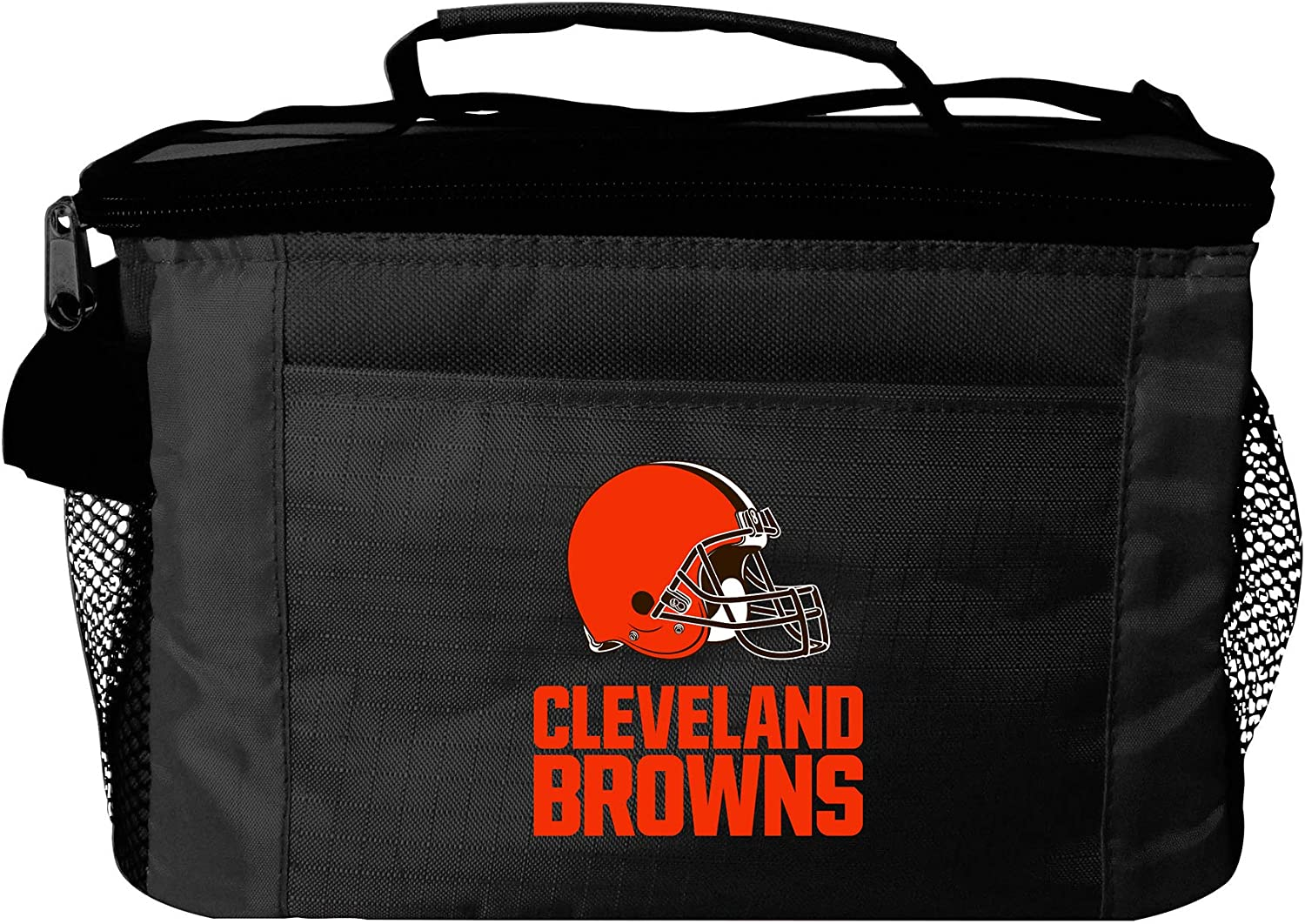 Black NFL Cleveland Browns Insulated Lunch Cooler Bag with Zipper Closure