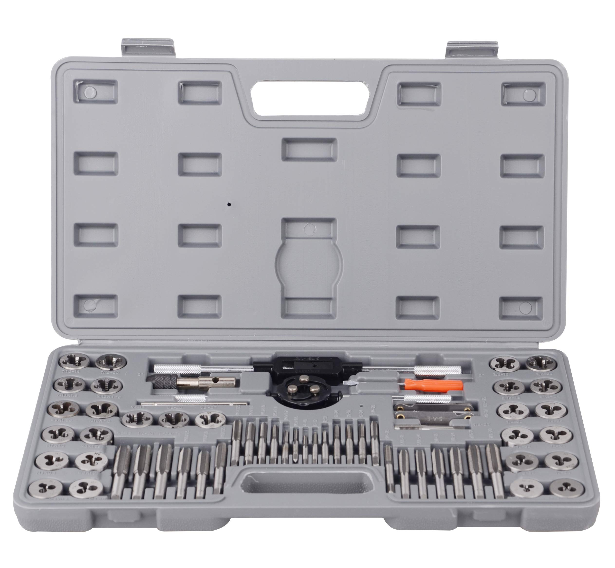 60 pcs Metric and SAE Alloy Standard Tap and Die Set by DA YUAN