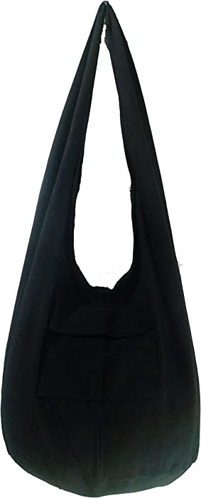 Amazon.com  Rare Asian East Hippie Hobo Cotton Sling Cross-body Handmade  Asia Black Thai Pattern Bag Shoulder Purse  Clothing 54db4a1a290f9