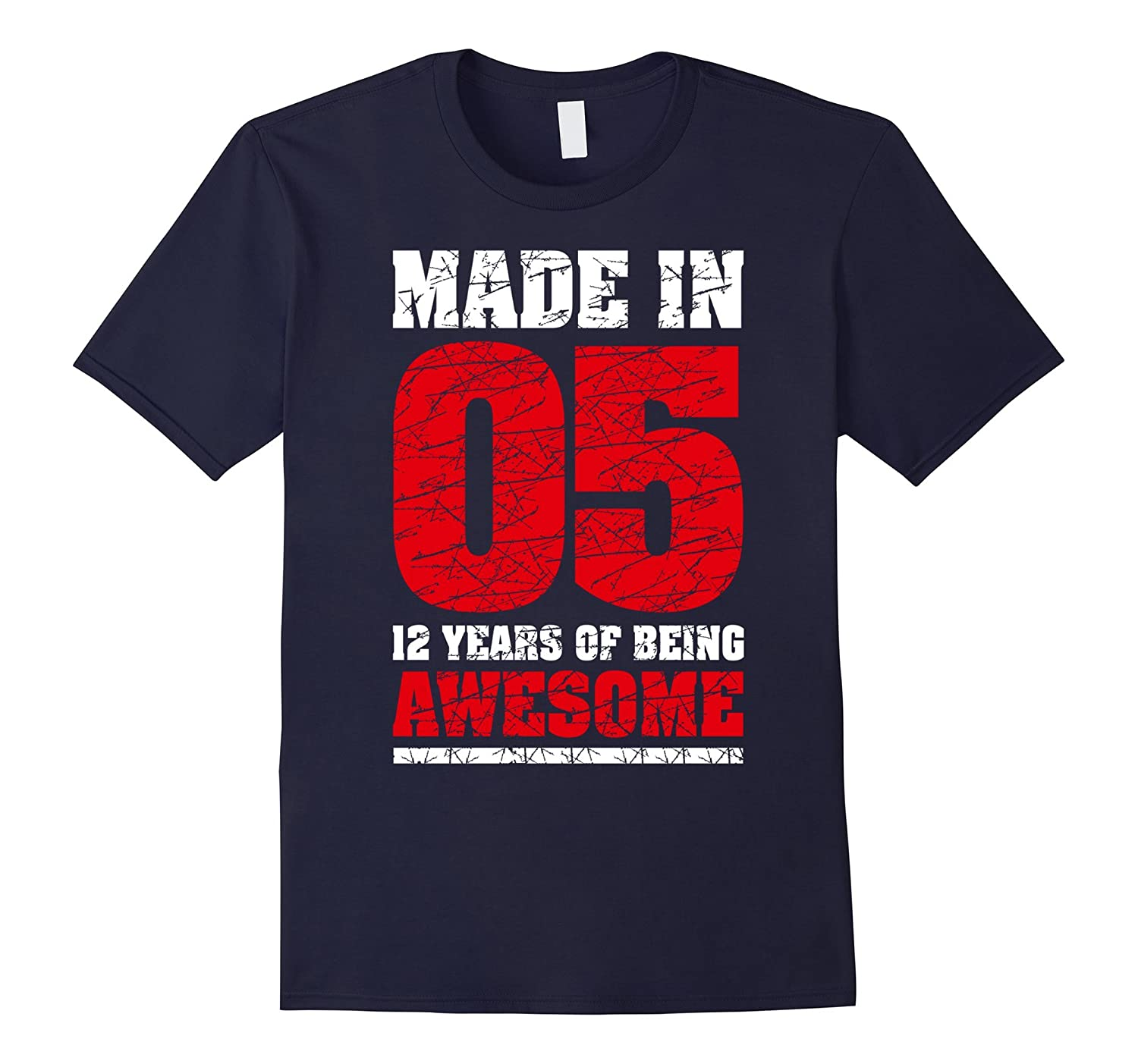 12th Birthday Gift T-Shirt Made In 05 cute 12 yrs old gift-BN