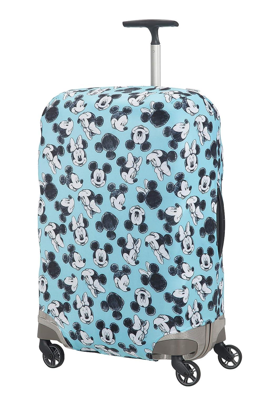 Samsonite Global Travel Accessories Disney - Funda para Maleta en Lycra, M, Azul (Mickey/Minnie Blue)
