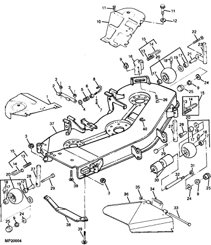 John Deere Lx 280 48 Mower Deck Belt Diagram