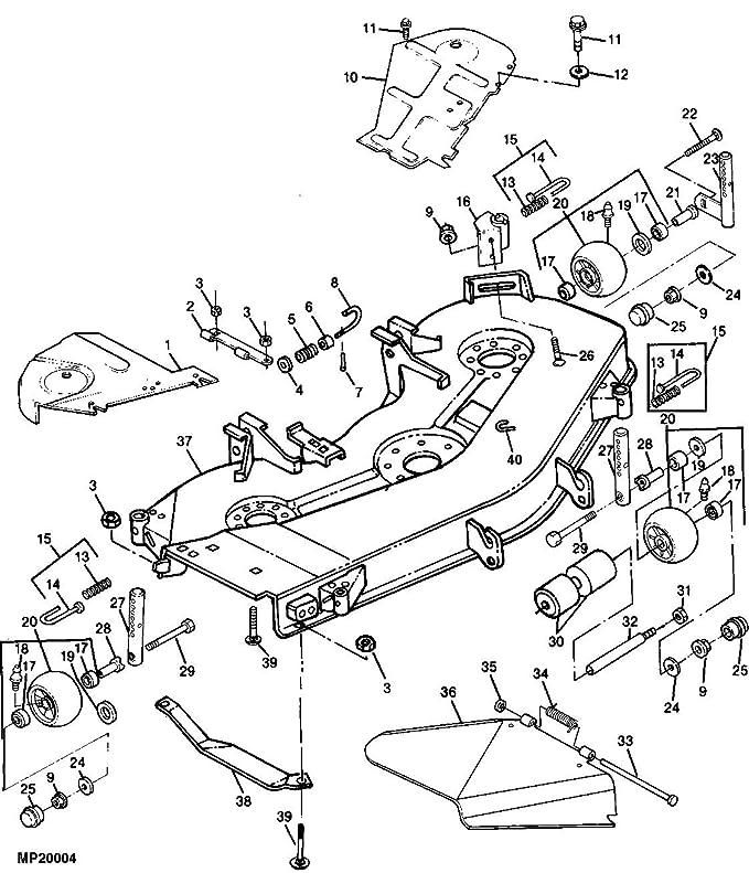 John Deere 48 Mower Deck Belt Diagram La140