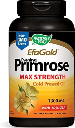 Nature s Way EfaGold Evening Primrose, Cold Pressed Oil 1300mg, 120 Softgels