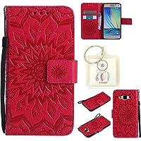 Lohpe Housse Galaxy A5 (2015) A500F (5.0 Pouces), Etui en PU Cuir Portefeuille Coque pour Galaxy A5 2015 Fleurs Datura Modèle Case avec Fonction Support Stand (T)
