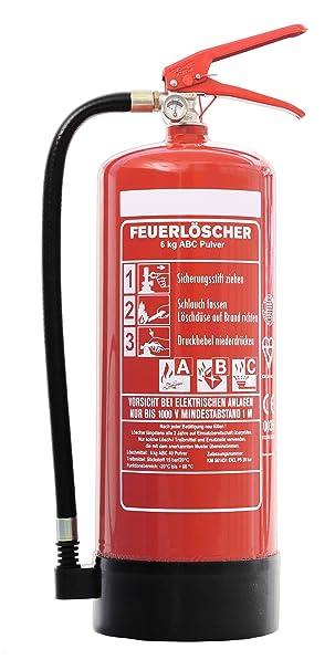 Gut bekannt Feuerlöscher 6kg ABC-Pulverlöscher mit Schutzbox aus Kunststoff IR06