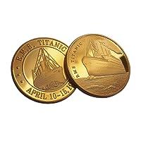 Titane Plaqué or Rare Ensemble de 2x pièce de monnaie 100year anniversaire de collection et à collectionner Titanic Voyage honneur Noble Cadeau