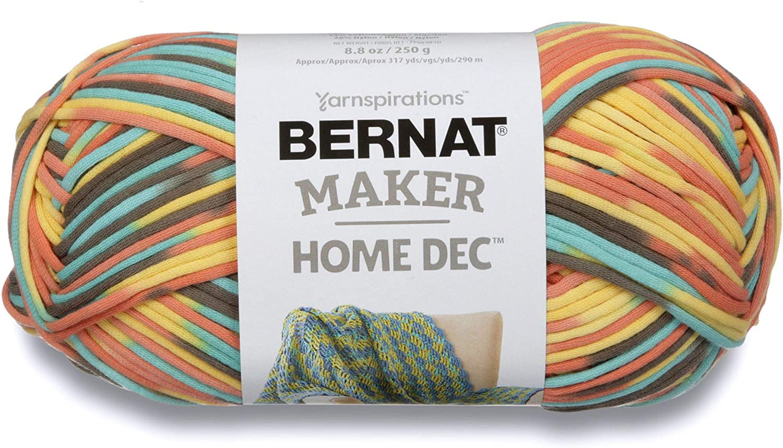 Bernat Maker Home Dec Yarn, 8.8oz, Guage 5 Bulky Chunky, Sunset Sea Varg