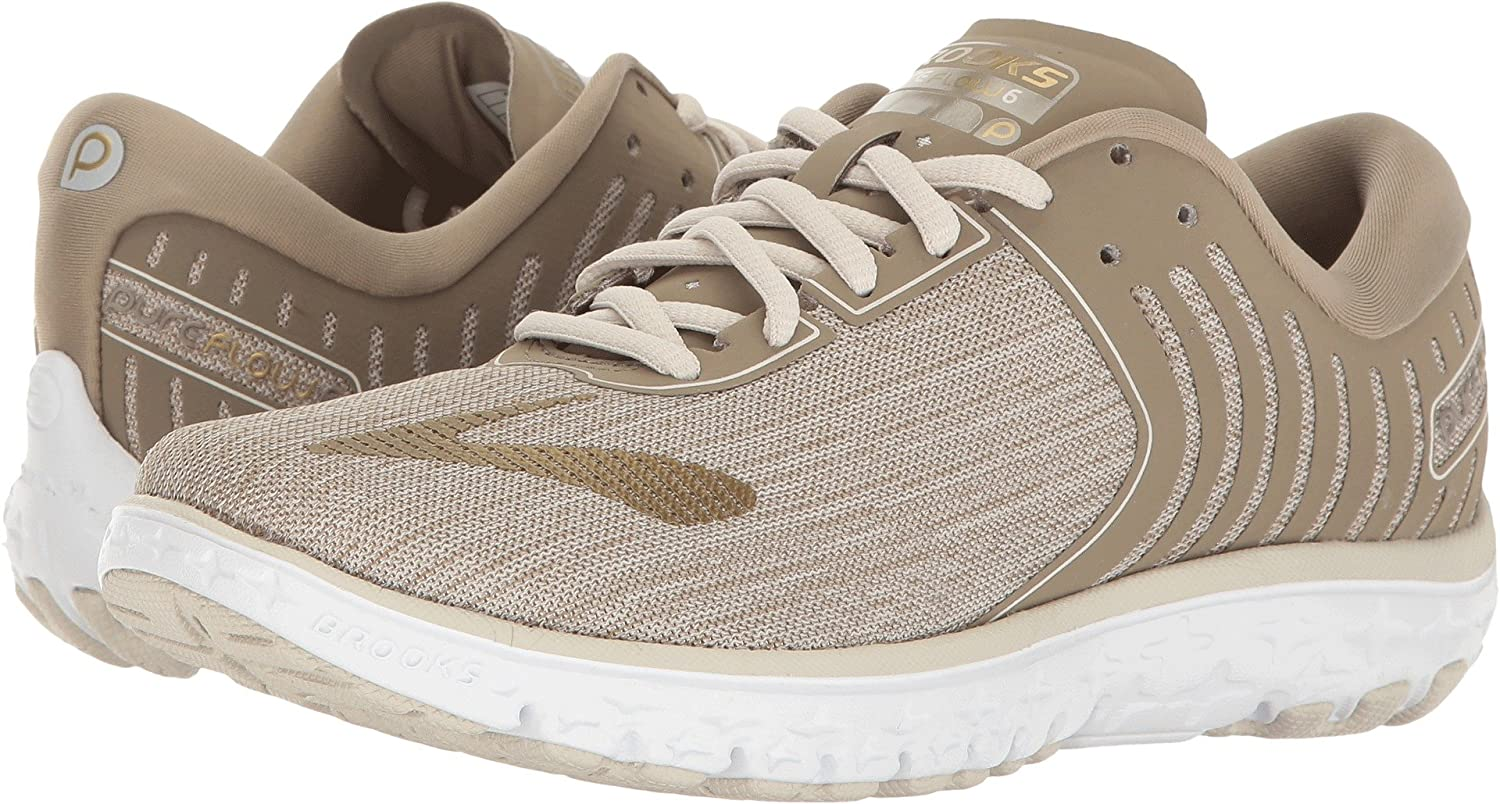 Brooks Women's PureFlow 6 B01KU4AK5U 10 B(M) US|Heather/Roasted Cashew/Crocodile