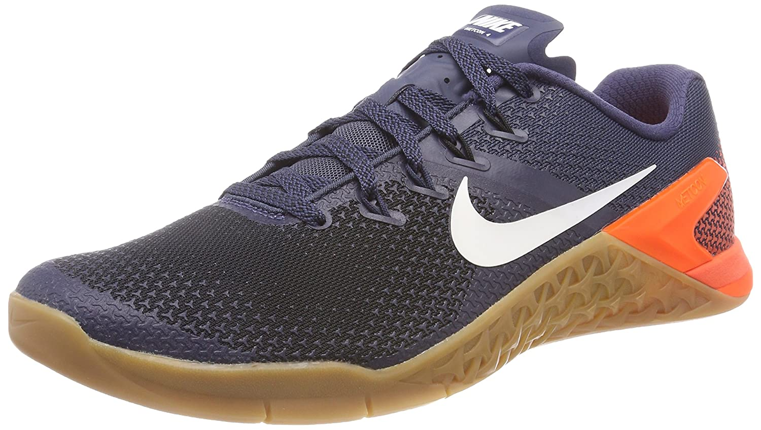 NIKE Men's Metcon 4 Training Shoes B072C2RNZN 7.5 D(M) US|Thunder Blue/Black/Hyper Crimson/White