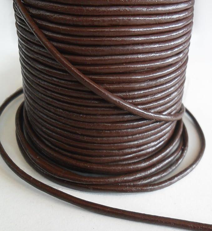 Auroris 10m leather cord round - Ø 5 mm - natural (uncoloured) fUJjwQbe