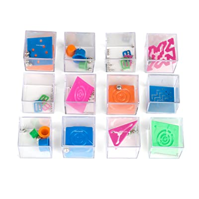 "1 Dozen Assorted 1.5"" Mind Teaser Puzzle Cubes - Office Toy Cubes - Party Favors - Goody Bags - Carnival Prizes - Easter Games and Egg Stuffers - Stress Relief Toys - Educational Toys: Toys & Games"