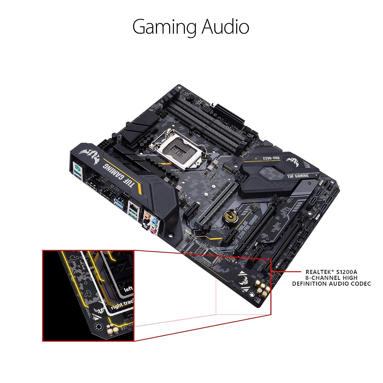 ASUS TUF Z390-Pro Gaming LGA1151 (Intel 8th and 9th Gen) ATX DDR4 HDMI M 2  USB 3 1 Gen2 Gigabit LAN Motherboard