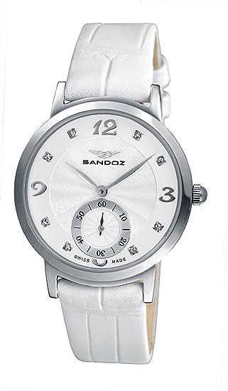 Sandoz 72564-00 - Reloj de mujer de cuarzo, correa de acero inoxidable color