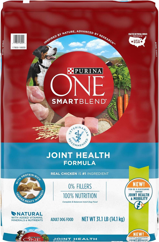 Purina ONE SmartBlend Natural Dry Dog Food, Joint Health Formula - 31.1 lb. Bag