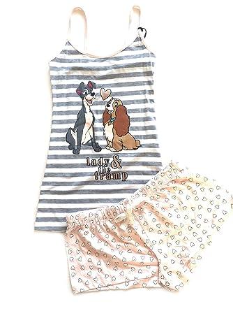 Love to Lounge Primark Ladies Lady and The Trump Camiset PJS Womens Pyjamas  Loungewear Girls Vest Shorts Size UK S (6-8)  Amazon.co.uk  Clothing f16815ba43e8