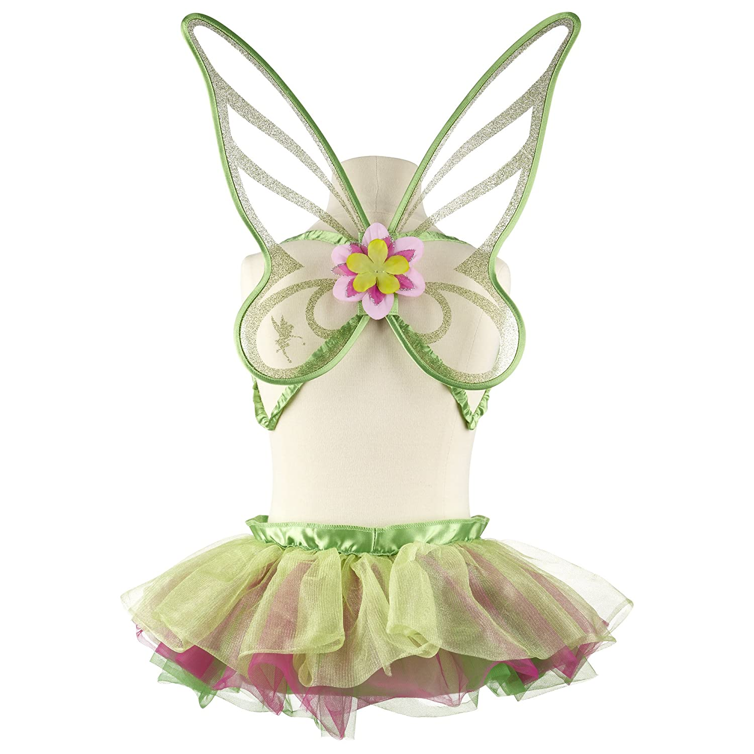Disney Fairies Tinkerbell Tutu Children Girl's Costume