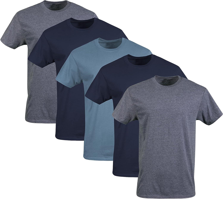 Gildan Men's Crew T-Shirts, Multipack