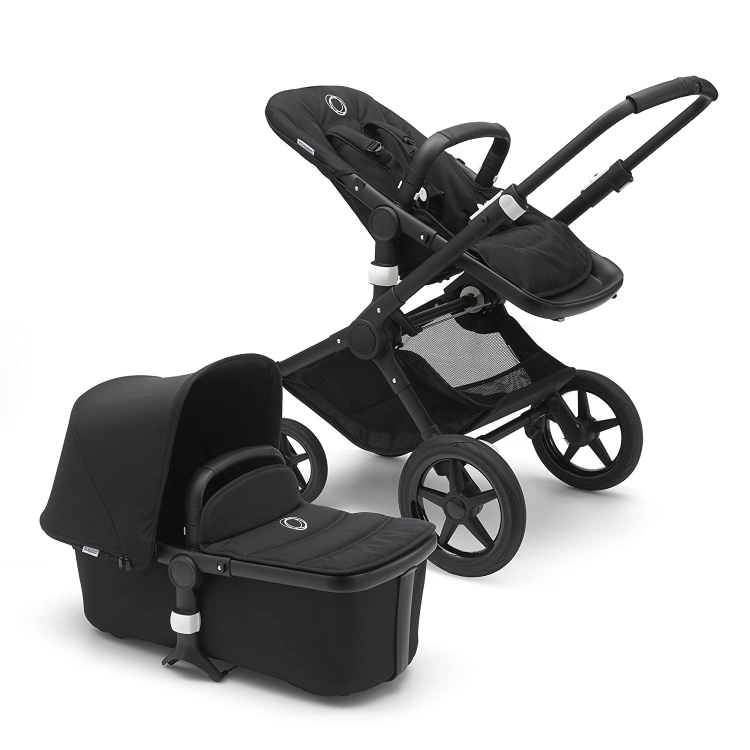 Bugaboo Fox Complete Full Size Stroller Black Fully Loaded Foldable Stroller With Advanced