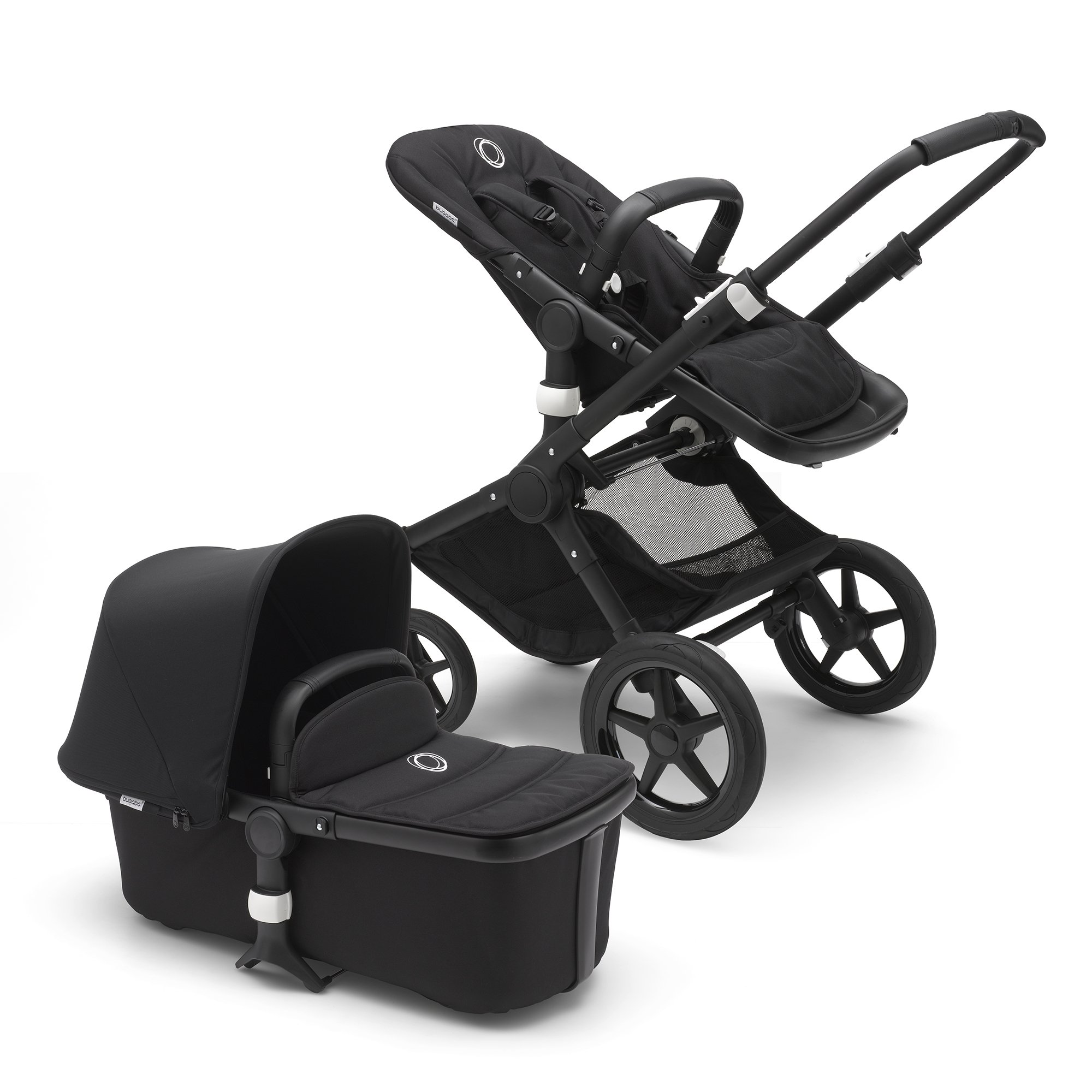 Bugaboo Fox Complete Full-Size Stroller, Black - Fully-Loaded Foldable Stroller with Advanced Suspension and All-Terrain Wheels by Bugaboo