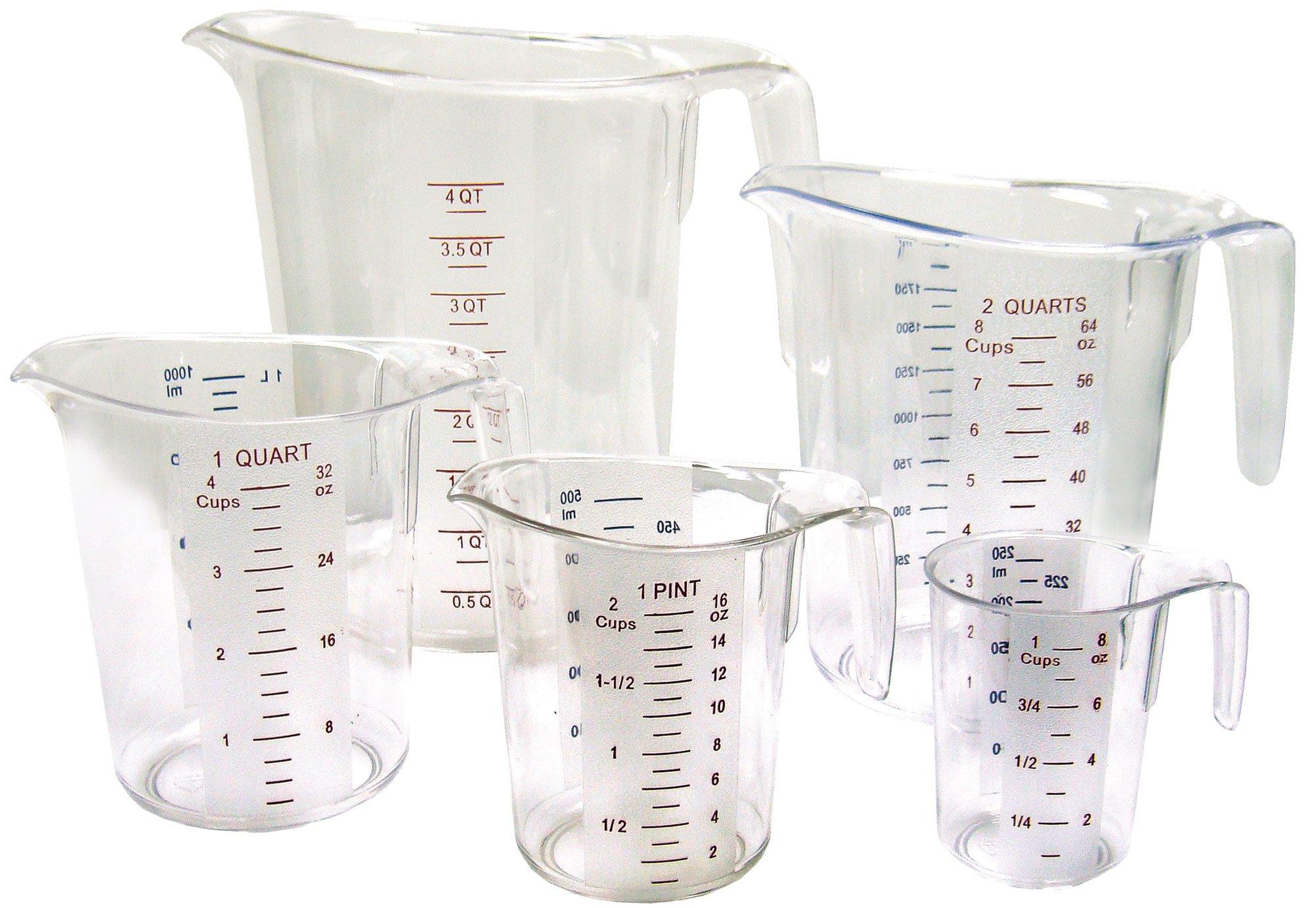 Winco 5-Piece Measuring Cup Set, Polycarbonate by Winco