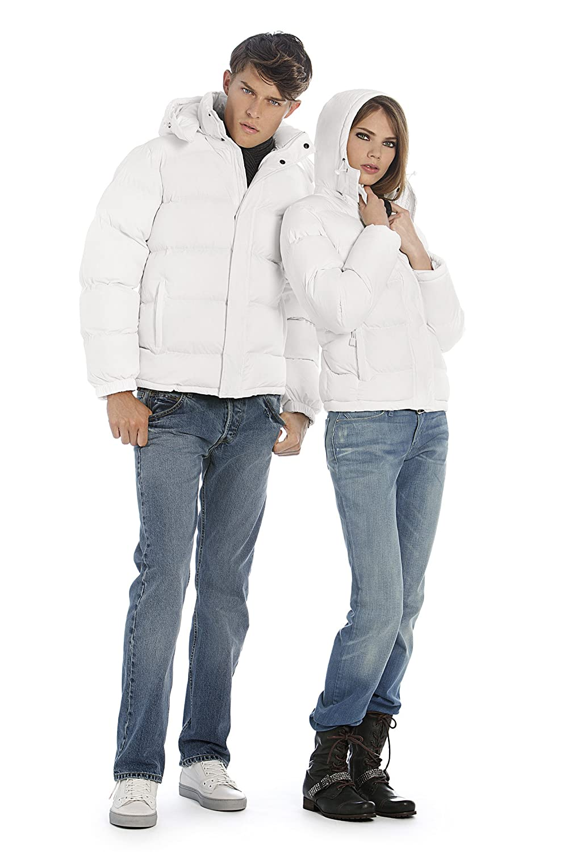 B&C Men's Blouse Plain Long Sleeve Jacket White White S