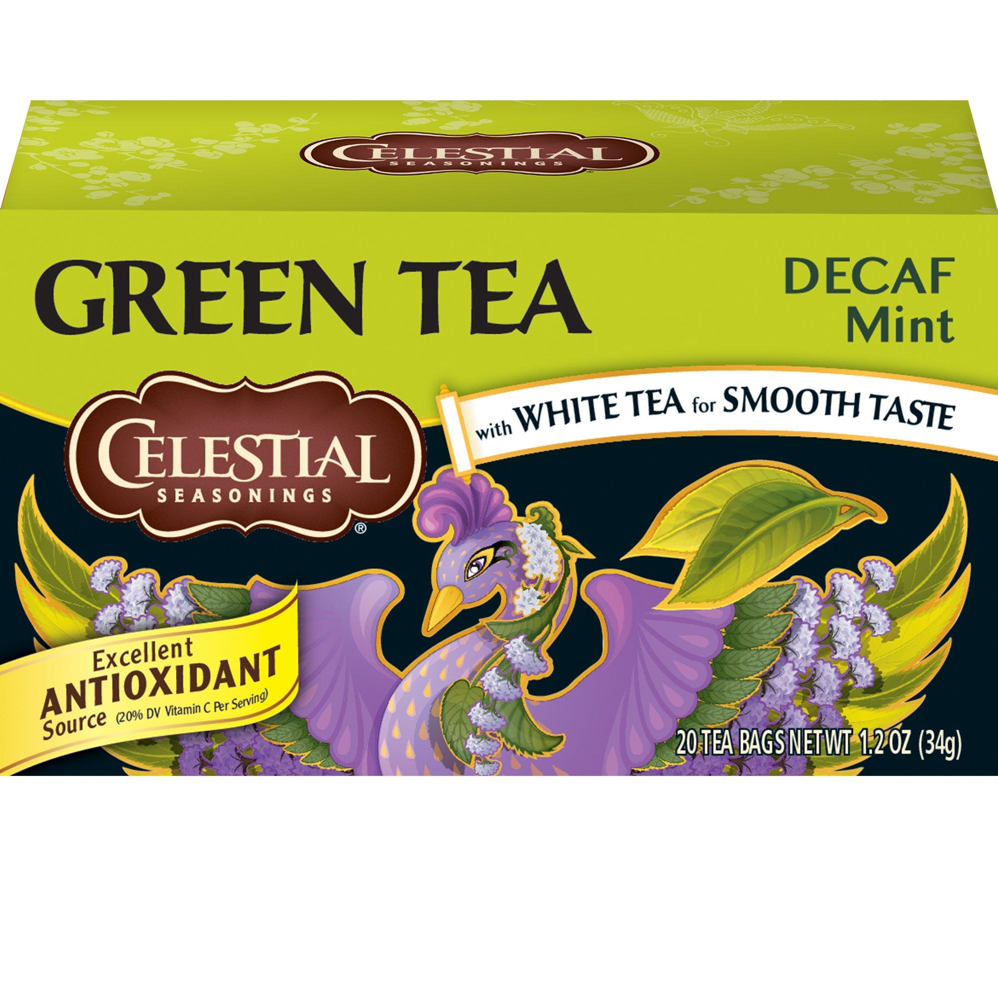 Celestial Seasonings Green Tea, Decaf Mint, 20 Count (Pack of 6)