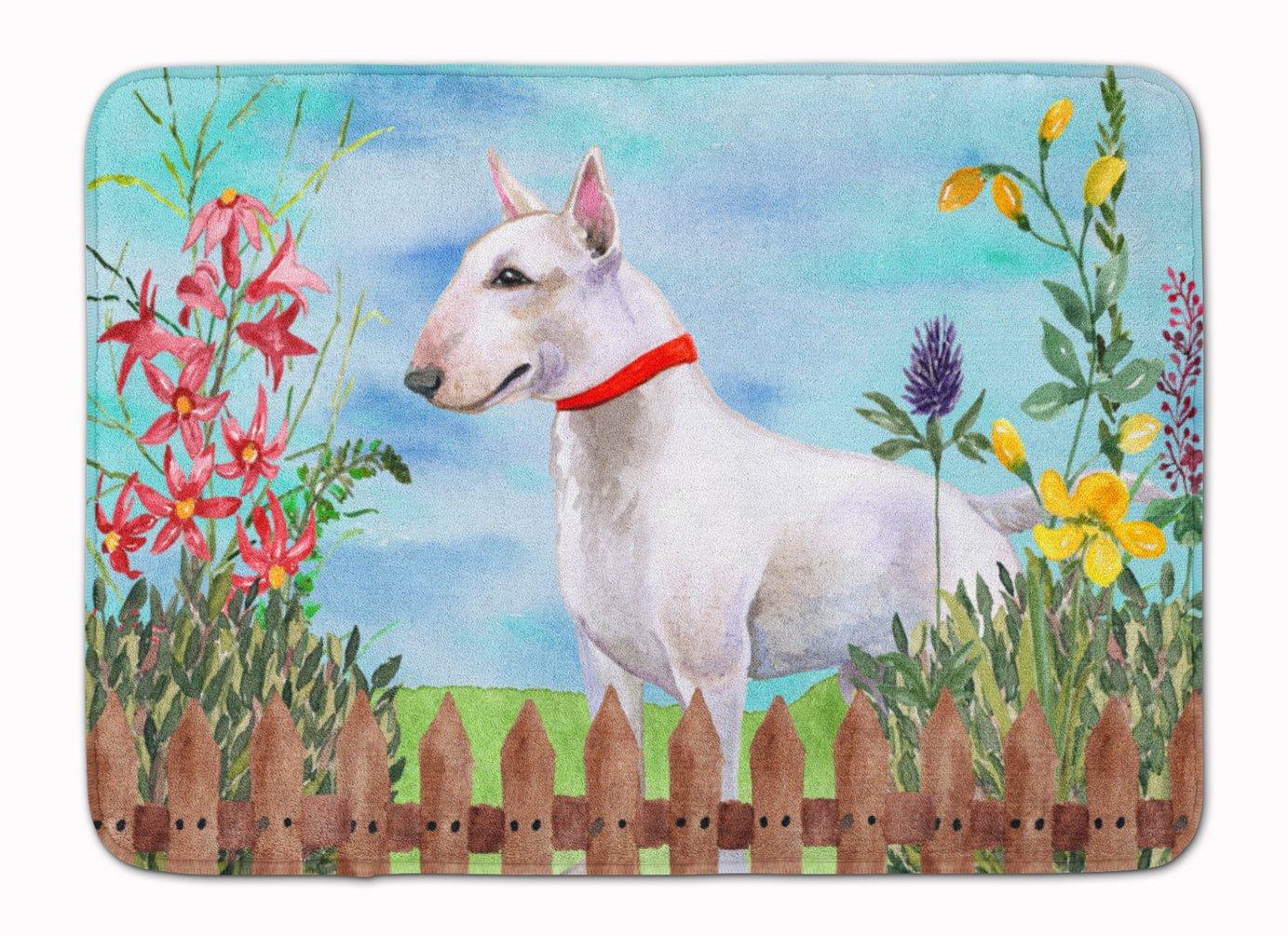 Carolines Treasures Bull Terrier Spring Floor Mat 19 x 27 Multicolor
