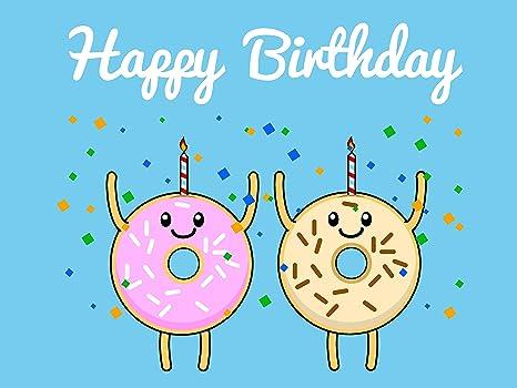 Amazon.com: Feliz Cumpleaños Tarjeta de Donut Emoji Icon ...