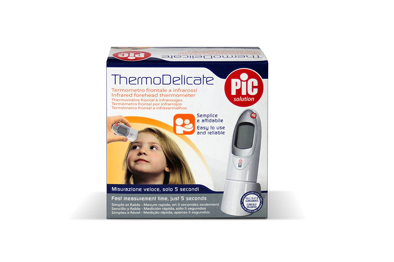 Amazon.com: Thermo Delicate Infrared Forehead Thermometer PIC: Health & Personal Care