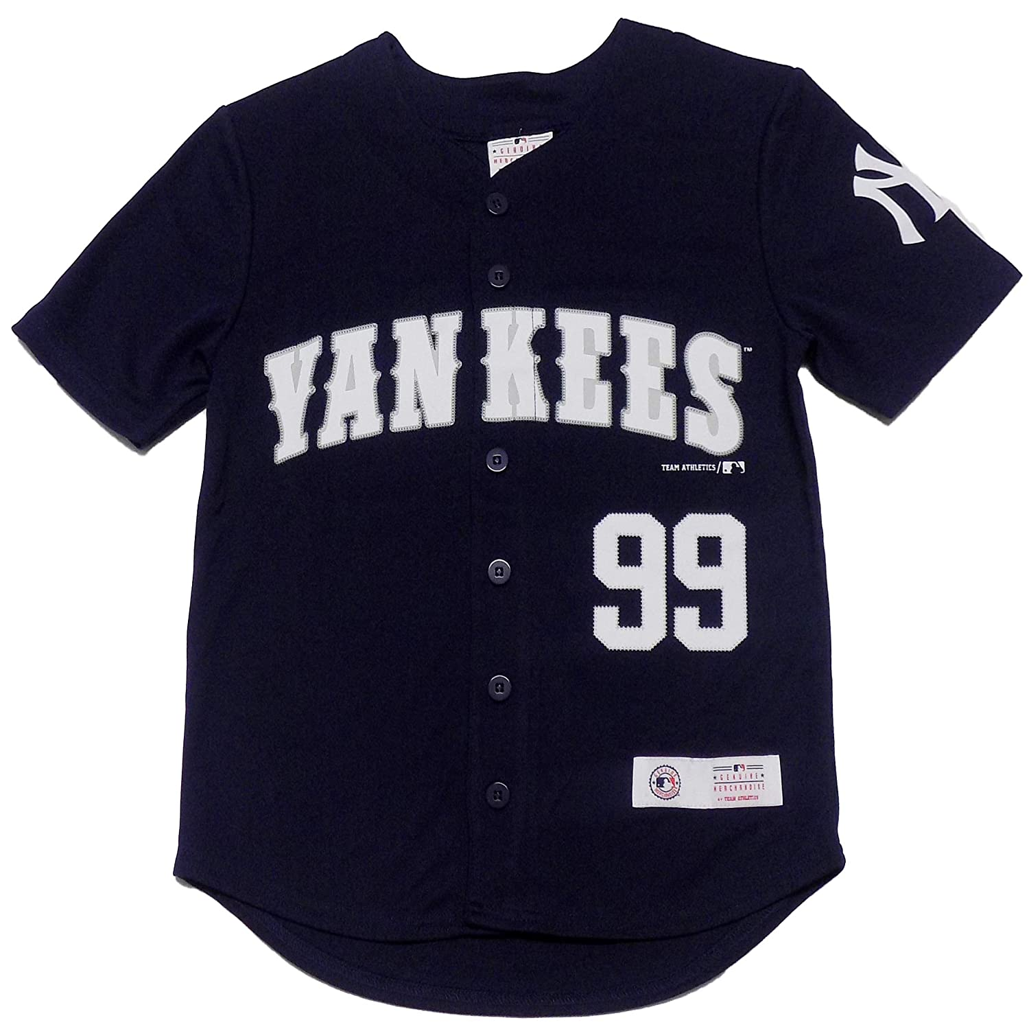 95cf50ca659 Amazon.com  Outerstuff Aaron Judge New York Yankees Navy Blue Youth Player  Jersey (Large 14 16)  Clothing