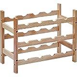 Amazon Basics Solid Wood 3-Tier Wine Rack