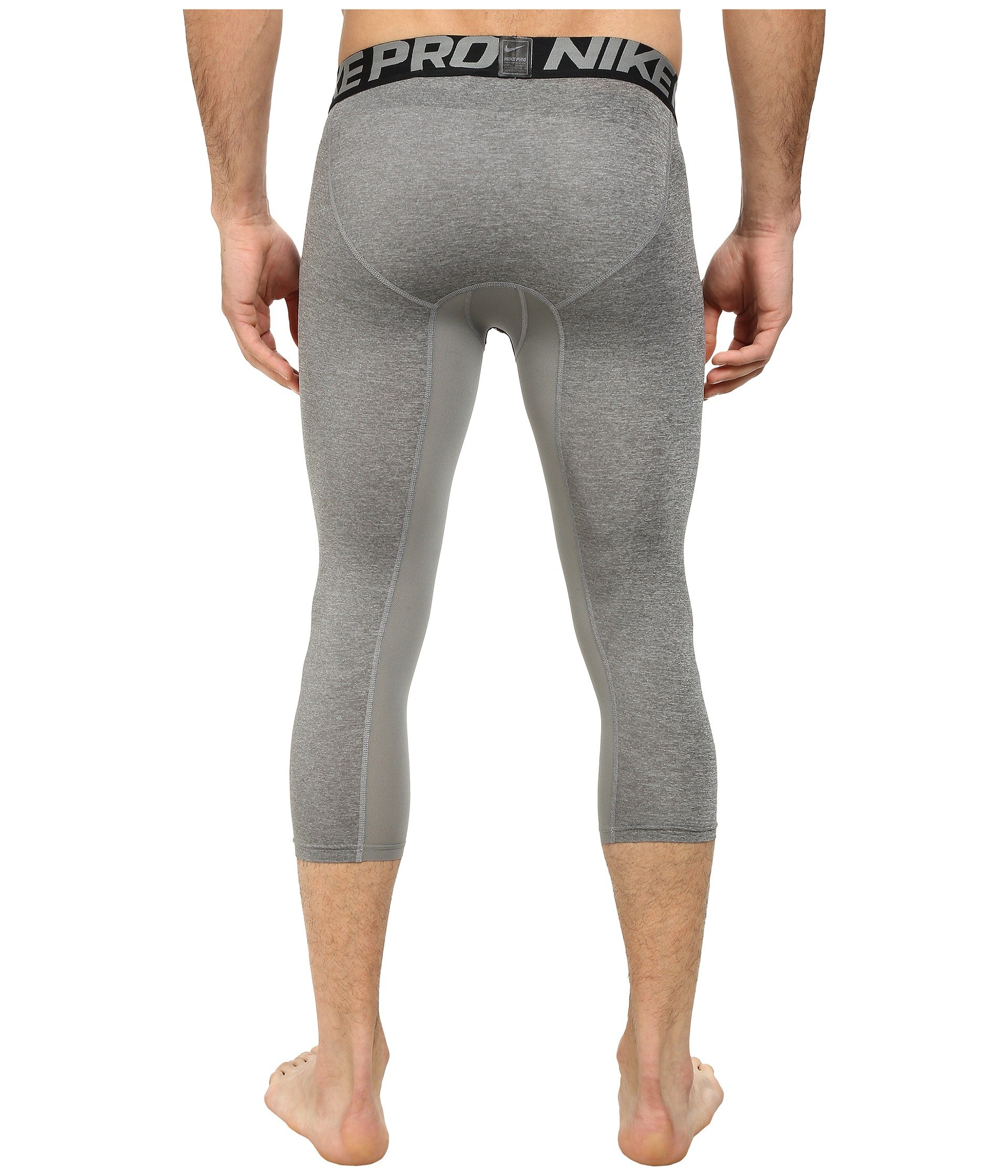 Nike Men's Pro 3/4 Tights (3XL, Carbon Heather/Black/Black) by Nike (Image #4)
