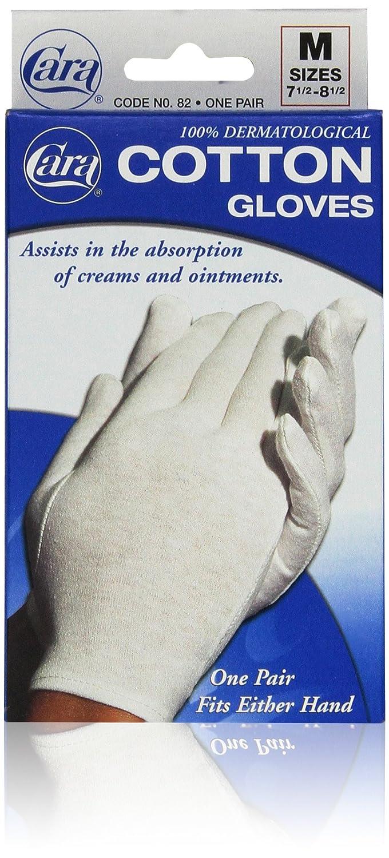 CARA Moisturizing Eczema Cotton Gloves, Medium, 1 Pair CARA INCORPORATED B000GCOL5M