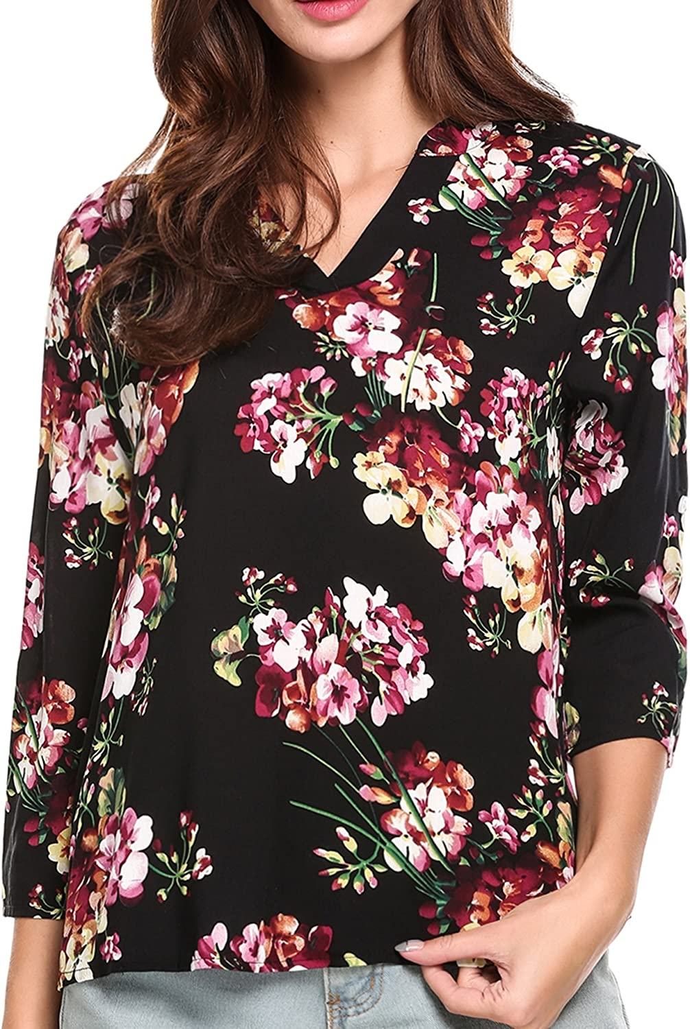 Quirky printed high-low tunic