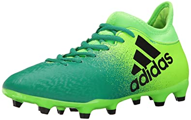 adidas Originals Men's X 16.3 Firm Ground Cleats Soccer Shoe, Solar  Green/Black/
