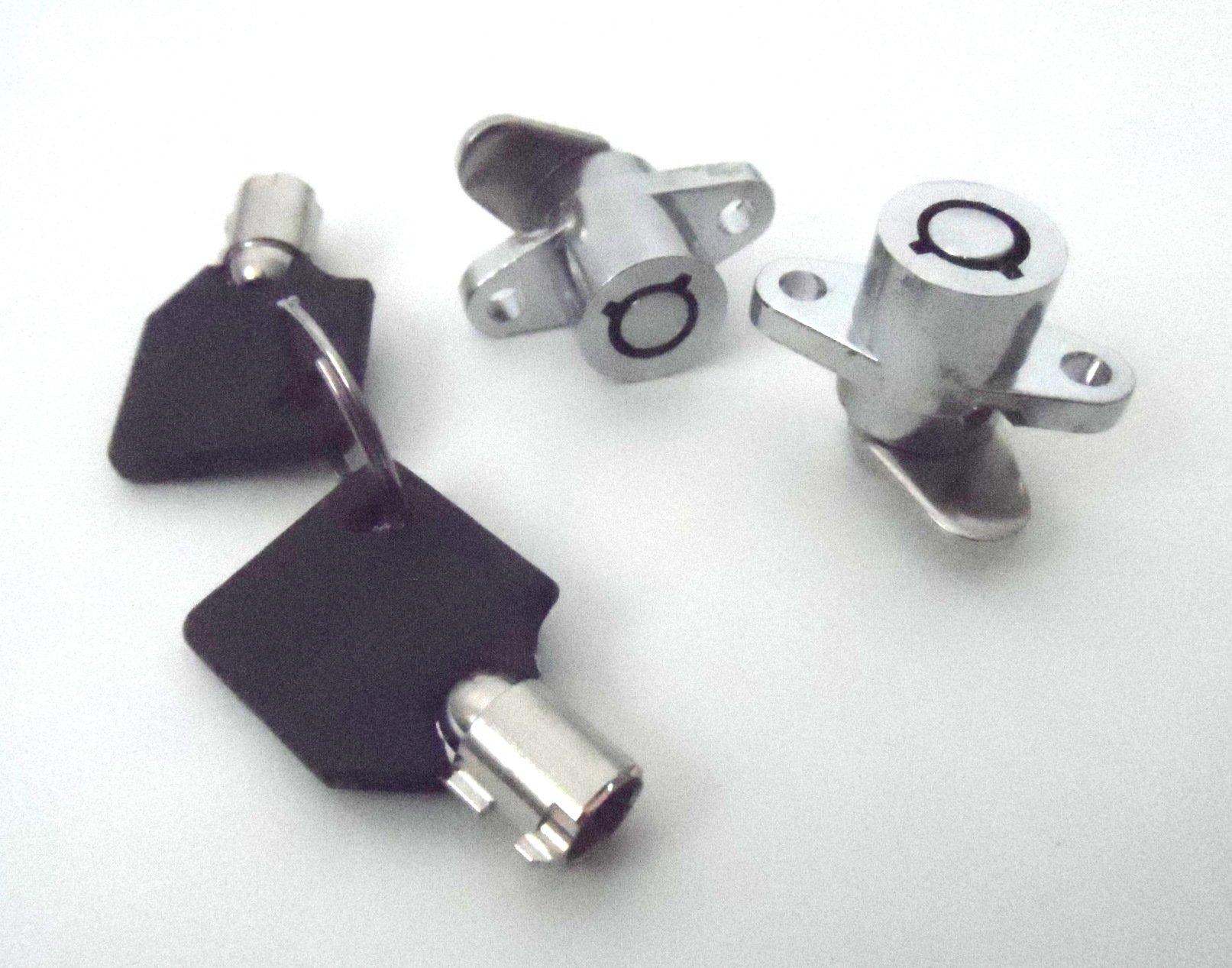 Saddlebag Lock Set for Harley-Davidson 1993-2013 Touring Models Saddlebag Locks Direct Replacement for OEM Hard Bag Locks