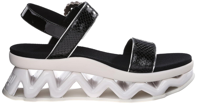 59bbd7f61f7 Amazon.com  Marc by Marc Jacobs Women s Ninja Printed Glazed Snake Strass Wave  Black 35 EU 5 M US  Shoes