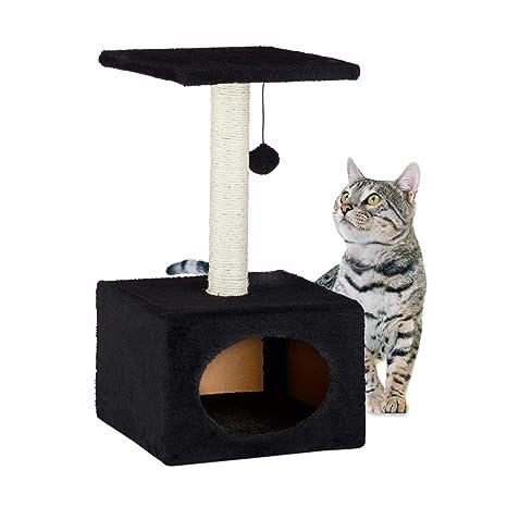Amazon.com: Relaxdays HBT - Árbol rascador para gatos con ...
