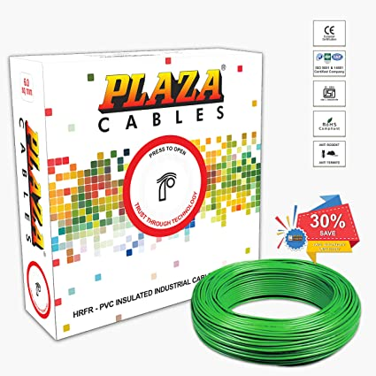 Plaza Cables 0.75 sq mm Copper PVC Insulated Electrical Wire/Cable on black is best, do is best, less is best,