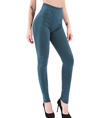 8b99b6bce3b Ruxia Women's High Waisted Plus Size Leggings Seamless Basic Stretch Pants  - Ultra Soft - Full Length for Everyday Wear (Teal, S/M) at Amazon Women's  ...