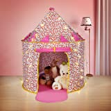 Light Up Cotton Castle Tent Princess Playhouse with Carry Case 16ft Snowflake LED String Light Indoor Outdoor Foldable Pop-up Tent with Snowflake LED Light Birthday Gift