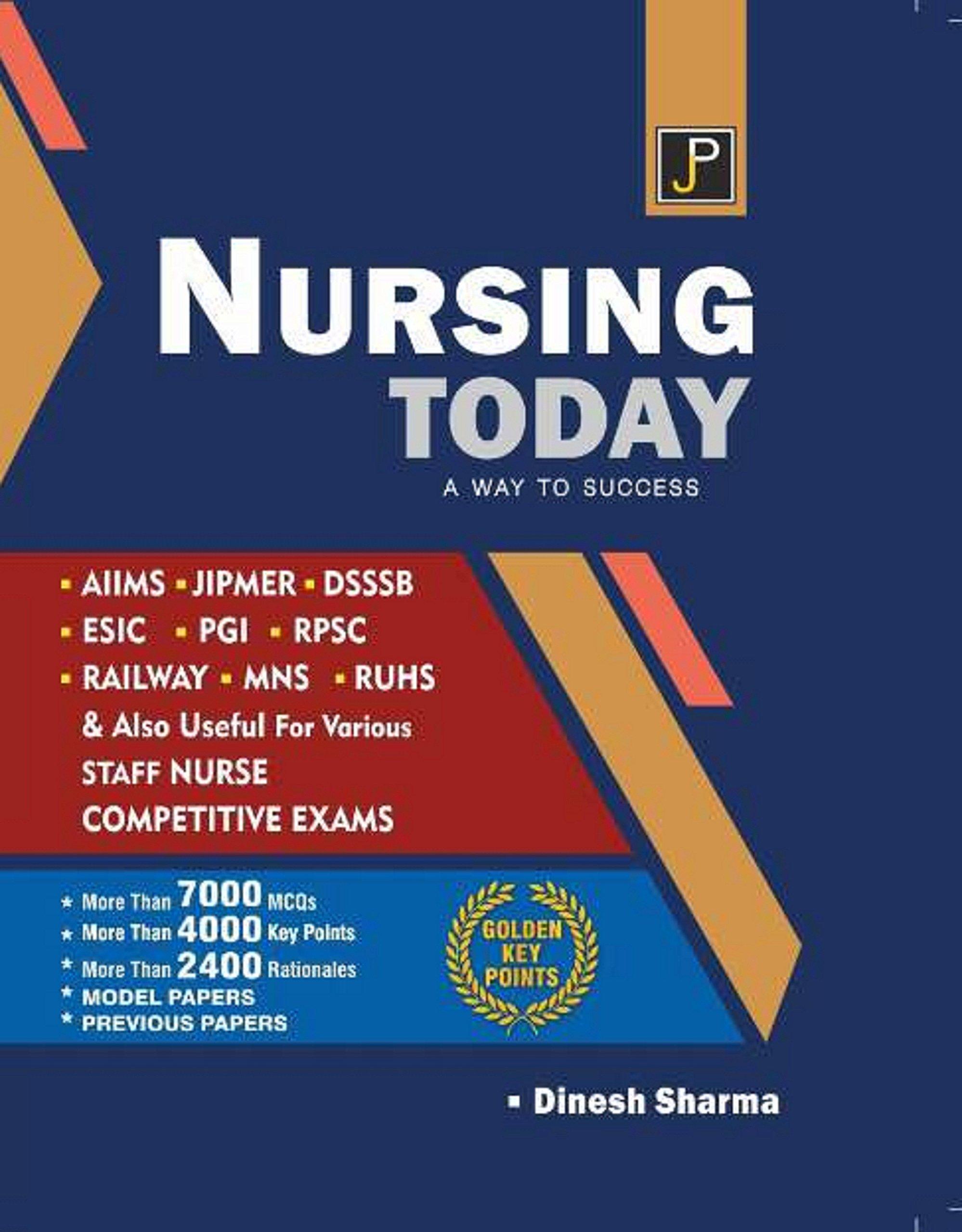 Buy Jp Nursing Today A Way To Success For Aiims Jipmer Dsssb