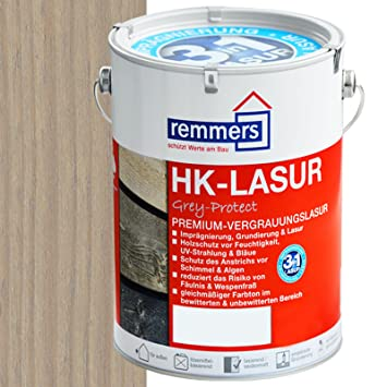 Super Remmers HK-Lasur Holzschutzlasur 5L Silbergrau: Amazon.de: Baumarkt RX63