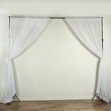 balsacircle 10 feet x 10 feet sheer voile backdrop drapes curtains white 2 panels 5x10
