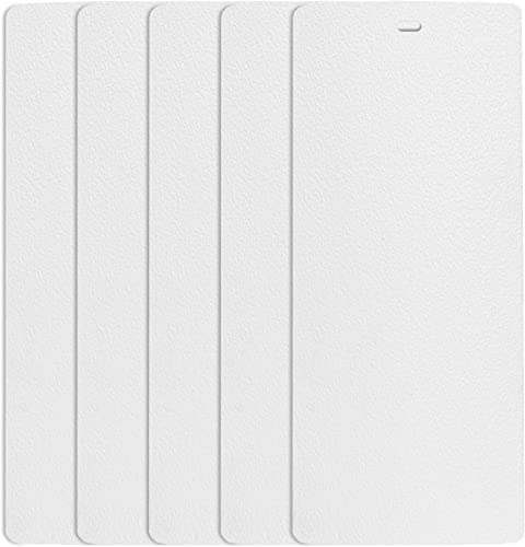 DALIX Sand Vertical Blinds Slats Premium Curved White 98.5 Large Window 5 Pack