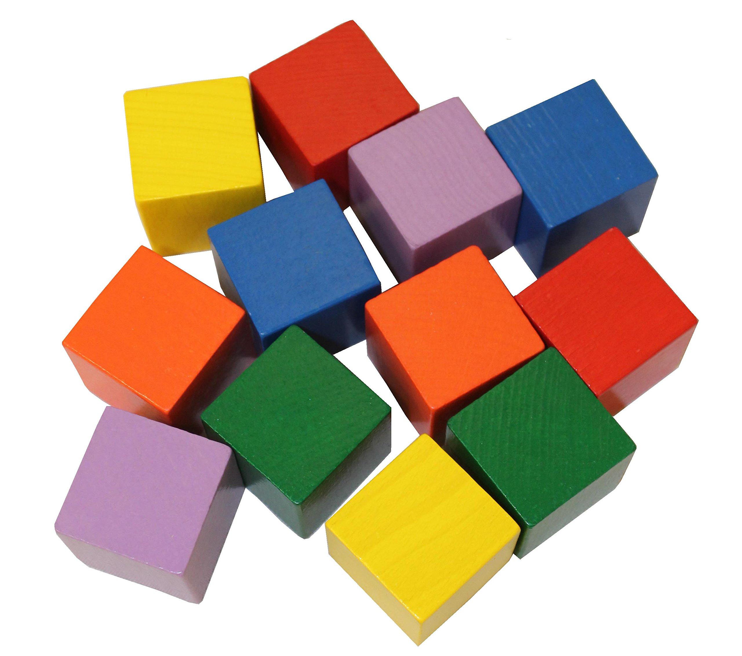 Colored Wood Blocks ~ Amazon baby blocks toy stacking block sets