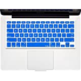 """Kuzy - BLUE Keyboard Cover Silicone Skin for MacBook Pro 13"""" 15"""" 17"""" (with or w/out Retina Display) iMac and MacBook Air 13"""" - Blue"""