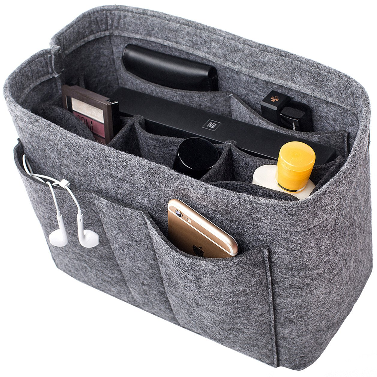 Felt Insert Bag Organizer Purse Organizer, Handbag Bag in Bag for Speedy Neverful Longchamp, 3 Sizes