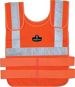 Ergodyne Chill-Its 6202SHVR Vest Only, Small/Medium, Orange